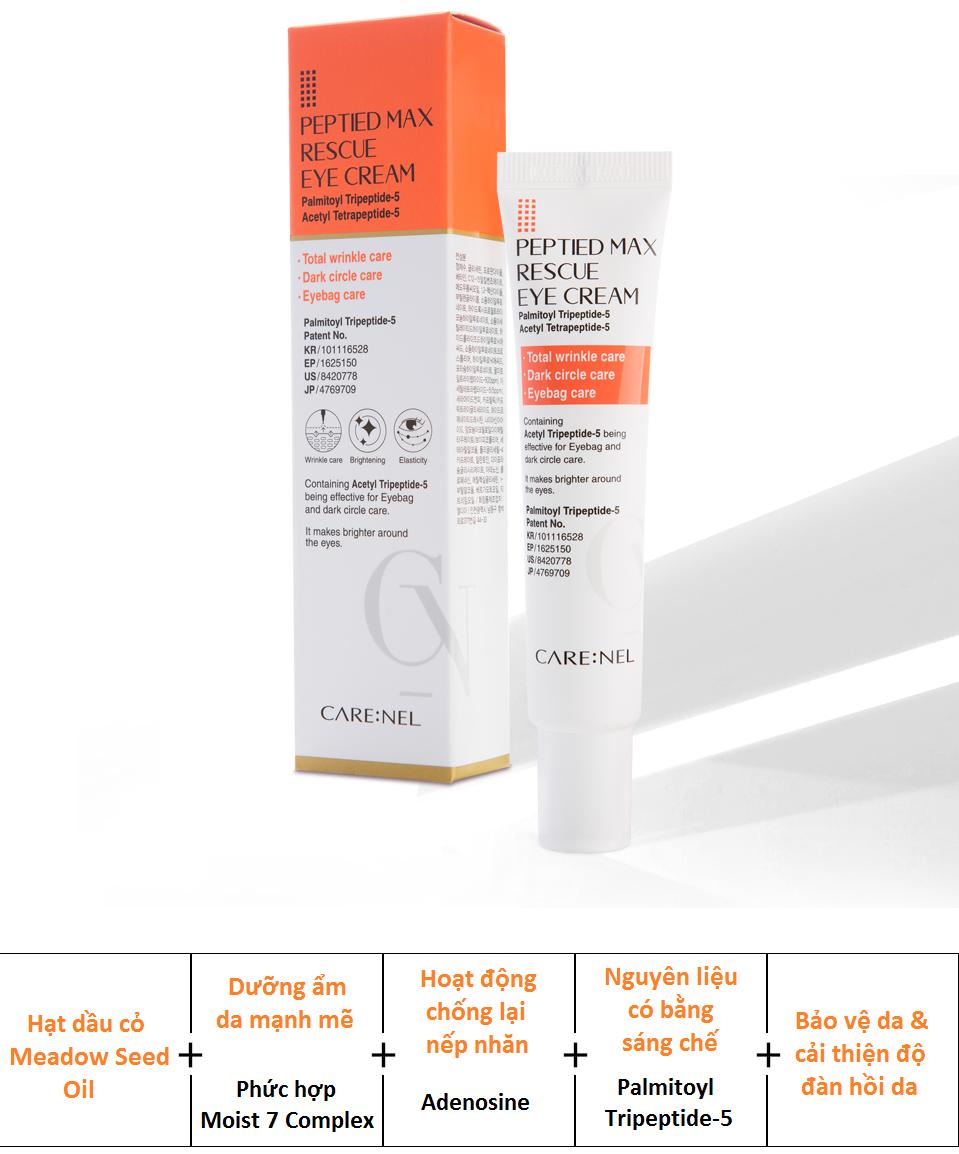 Kem dưỡng mắt Care:nel giúp giảm bọng mắt, quầng thâm, ngừa nếp nhănhiệu quả