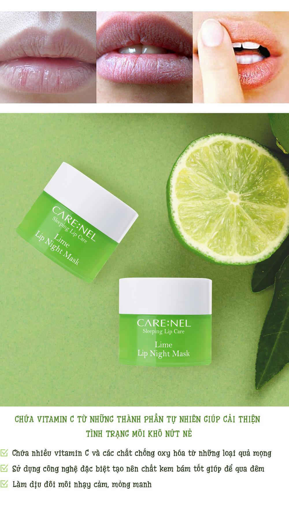 Mat Na Ngu Carenel Lime Lip Night Mask (11)
