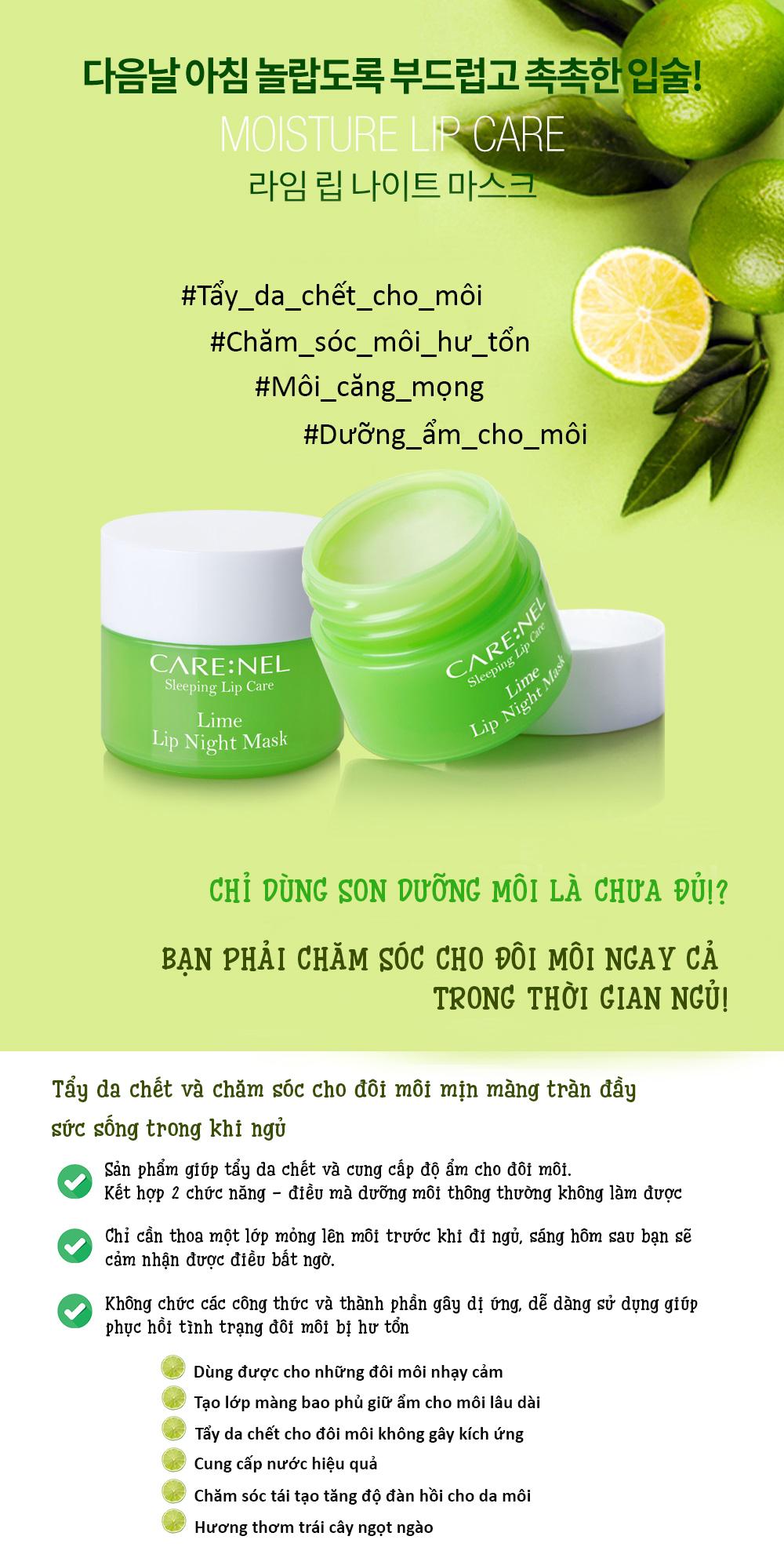 Mat Na Ngu Carenel Lime Lip Night Mask (2)