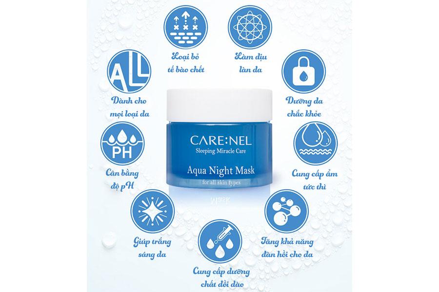 Mặt nạ ngủ mặt Care:nel Aqua Sleeping Mask giúp chăm sóc da hiệu quả