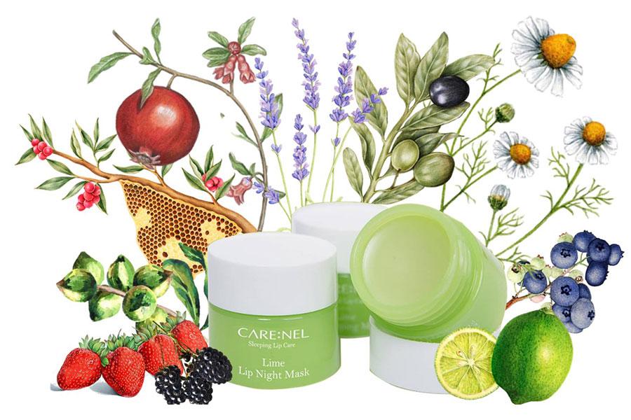 Mặt nạ ngủ môi Care:nel chanh dưỡng hồng môi và tẩy tế bào chết hiệu quả
