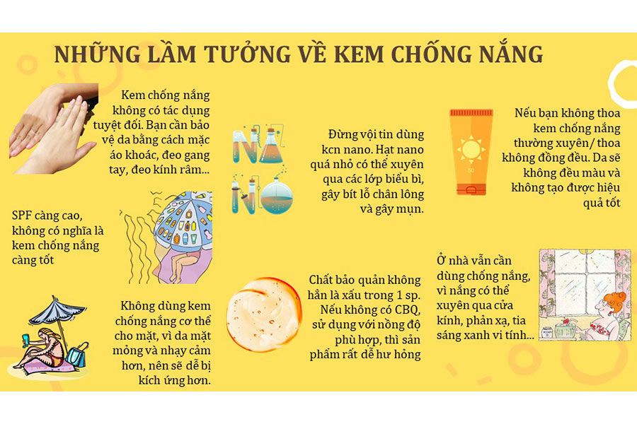 Lưu ý khi sử dụng kem chống nắng