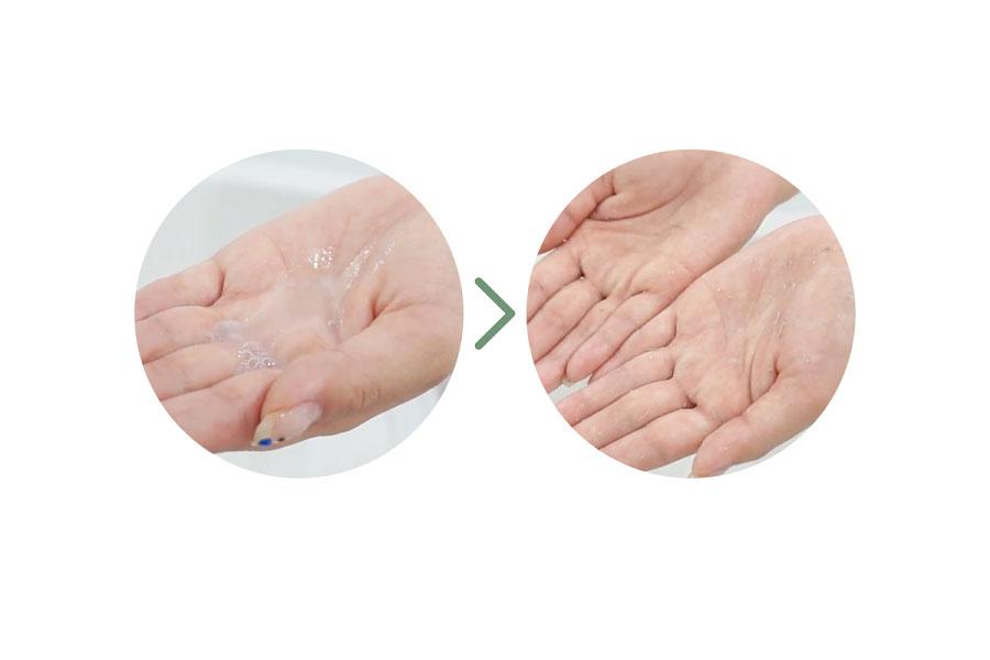 Chất gel lỏng nhẹ dễ dàng thẩm thấu vào da