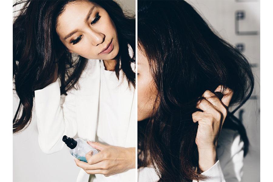 Dùng tinh chất chăm sóc tóc