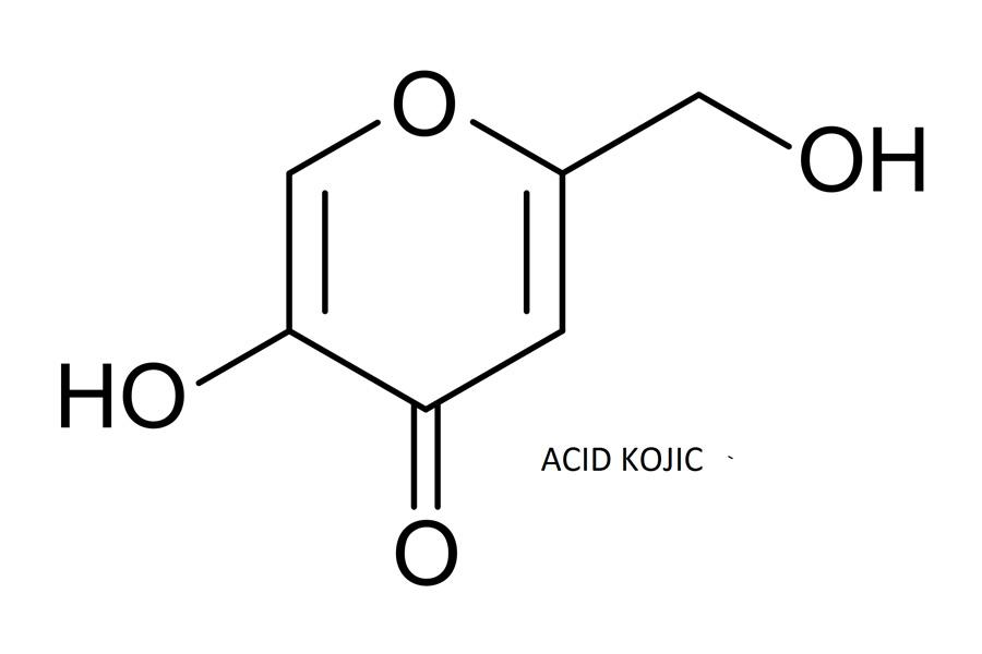 Acid Kojic có tác dụng ức chế tổng hợp sắc tố melanin