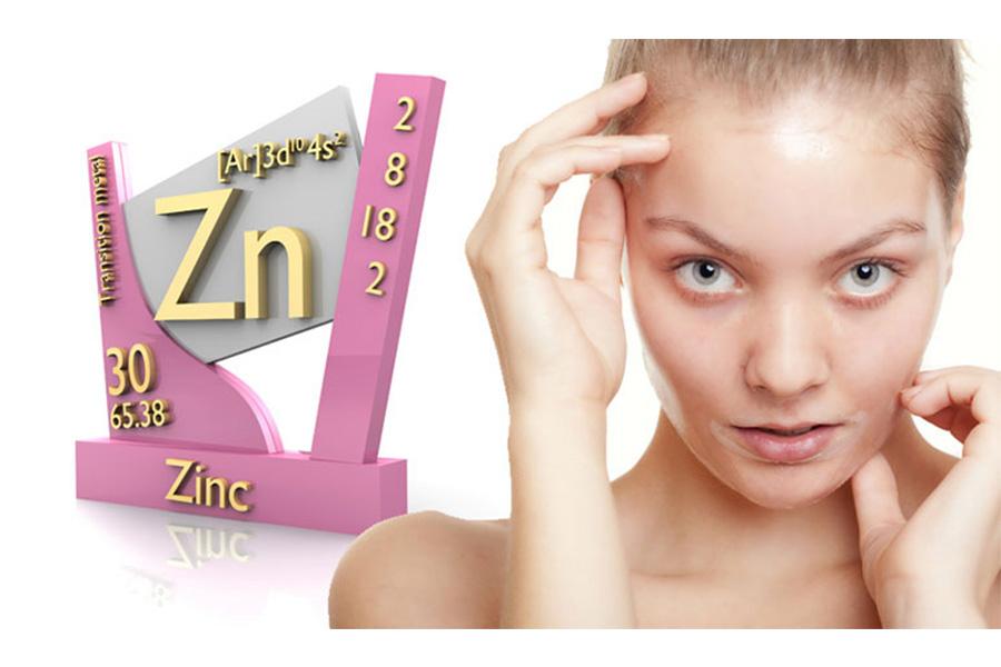 Kẽm trong serum Niacinamide Zinc giúp kiểm soát lượng dầu thừa trên da