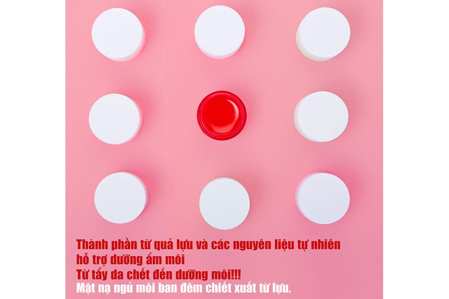 Mat Na Ngu Moi Huong Luu Carenel Pomegranate Lip Night Mask